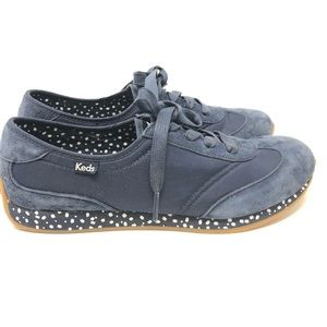 KEDS Women's Vintage Inspired Blue Suede Shoe